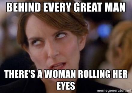 eyes rolling woman
