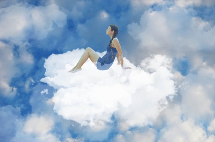 CLOUD sitting-on-a-cloud