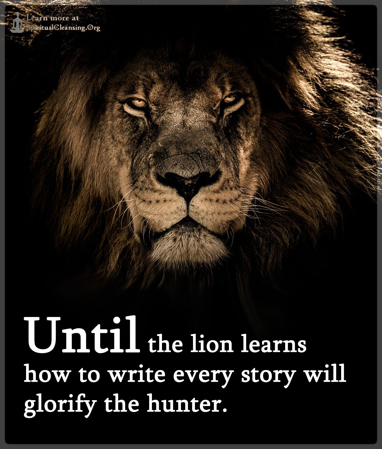 Lion learns how to write